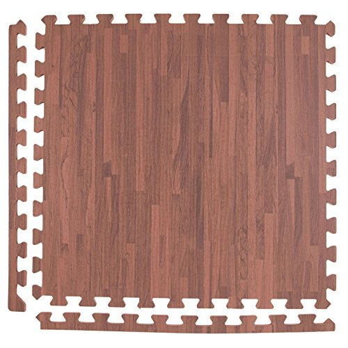 Incstores Soft Wood Foam Tiles 2ft X 2ft Interlocking Floor Tiles