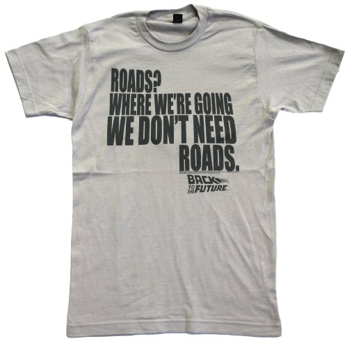 American Classics Back to The Future Mens Roads T-Shirt