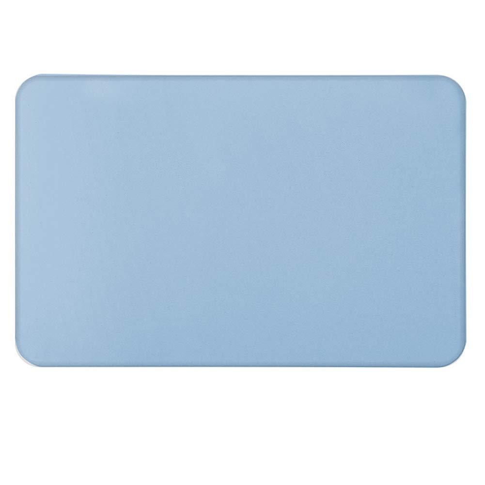 XuBa Natural Diatom Mud Anti-Slip Water Absorption Quick Dry Floor Mat for Bathroom Blue 40x60cm