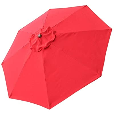 CHIMAERA 8' 8-Rib Patio Umbrella Replacement Canopy Outdoor Cover Top (Red) : Garden & Outdoor
