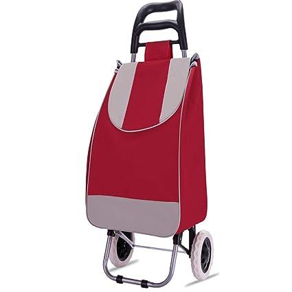 1b8b6e1ec9ef Amazon.com: DCRYWRX Folding Shopping Cart with Wheels Home Multi ...