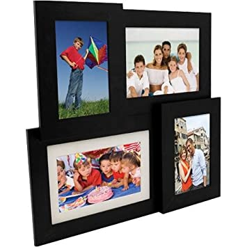 pandigital pan7004mu01 7 inch multi frame collage digital picture frame black