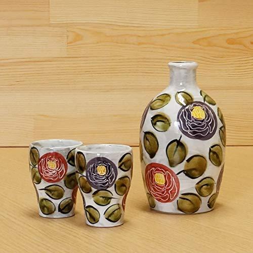 Imari [Set of 3] Japanese Arita-yaki Rose Garden Sake Decanter and 2 Cups Set 02108064,02108065,02108066 ()