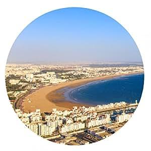 my-puzzle-design alfombrilla de ratón Panorama de Agadir, Marruecos - ronda - 20cm