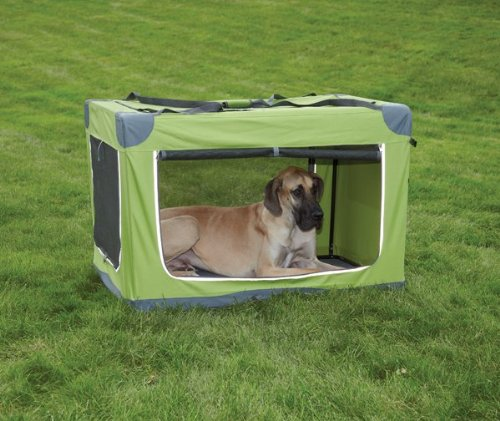 Guardian Gear Nylon Pioneer Soft Dog Crate, X-Large, Green