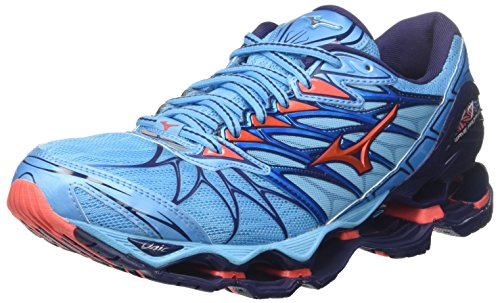 Shoes 7 Mizuno Multicolor 65 Prophecy Aquarius Wave Hotcoral Patriotblue WOS Running Women's aqcHOtpZHA
