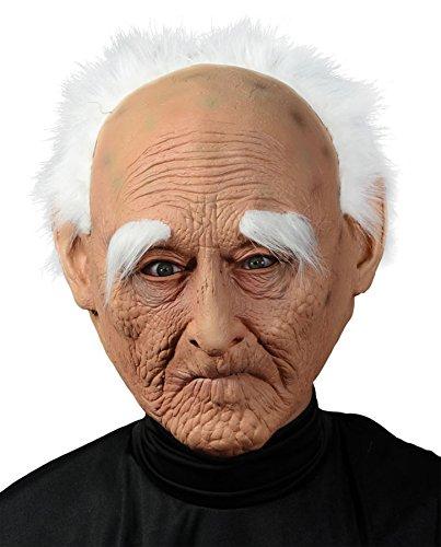 Mario Chiodo Men's Creepy Old Grandpa Latex Mask Funny Halloween Costume Accessory -