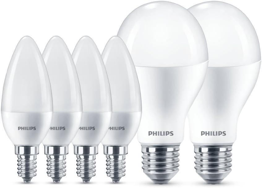 Philips Lighting Box Juego de 4 bombillas LED (E14, 60 W
