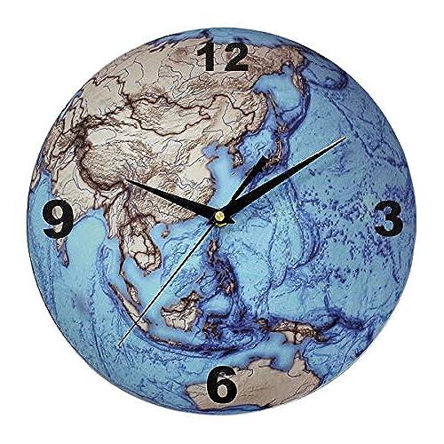 World globe clocks amazon justnile creative decorative frameless quartz movement acrylic wall clock round globe world map gumiabroncs Image collections