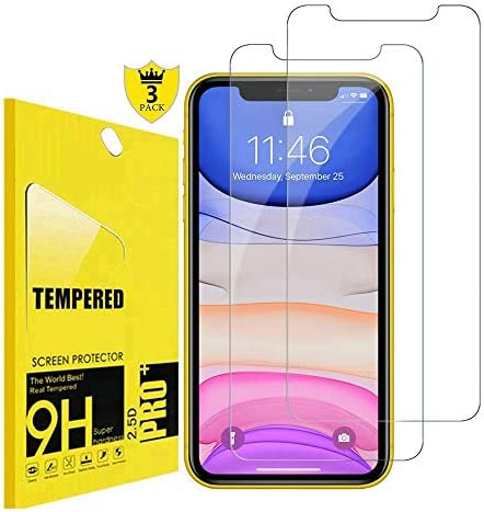 [ 3 Pack] Compatible with iPhone 11 Screen Protector, iPhone XR , iPhone 11 Tempered Glass Screen Protector All 6.1 inch iPhone