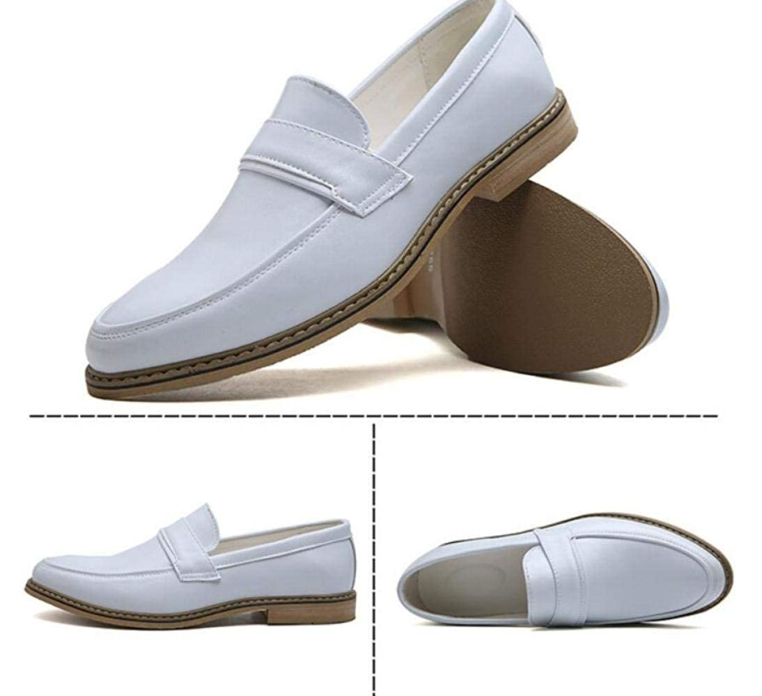 WLFHM Herbst Casual Herren Lederschuhe, Gentleman, Business Casual Herbst Schuhe, Herrenschuhe Weiß 2ffb08