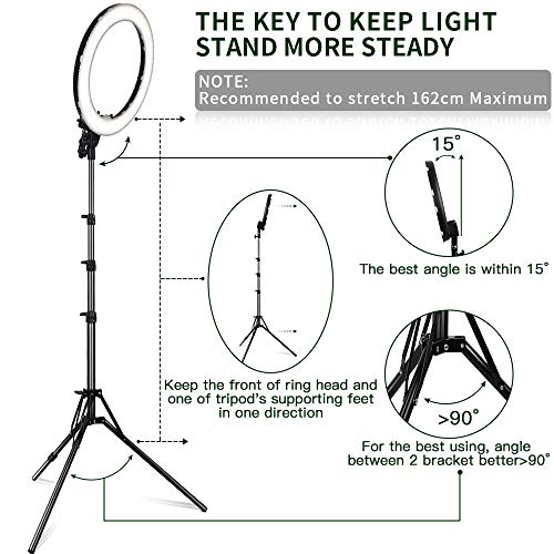 Led Ring Light Fositan 18 Inches 48cm Outer 55w 5500k