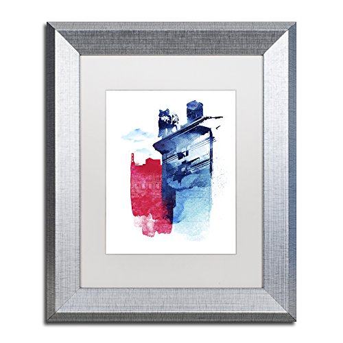 Trademark Fine Art This Is My Town by Robert Farkas, White Matte, Silver Frame 11x14-Inch