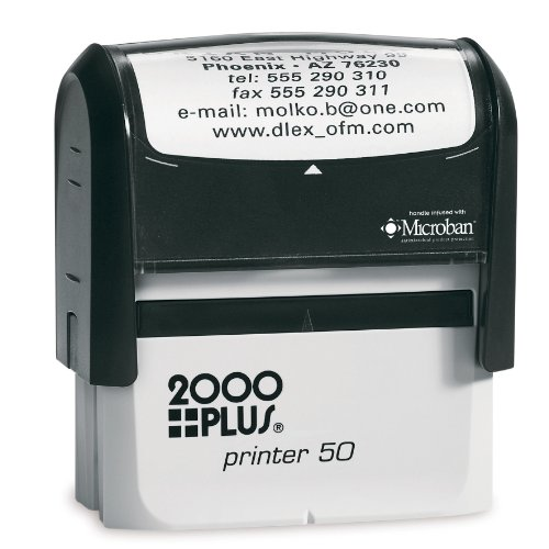 Cosco 2000 Plus Printer 50 Message stamp up to 7 lines.Stamp is perfect for bank endorsement, return address or custom messageself inking stamp