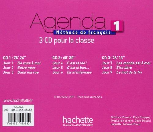 Agenda 1 - CD Audio Classe (X3) (French Edition) by Hachette Francais Langue Etrangere