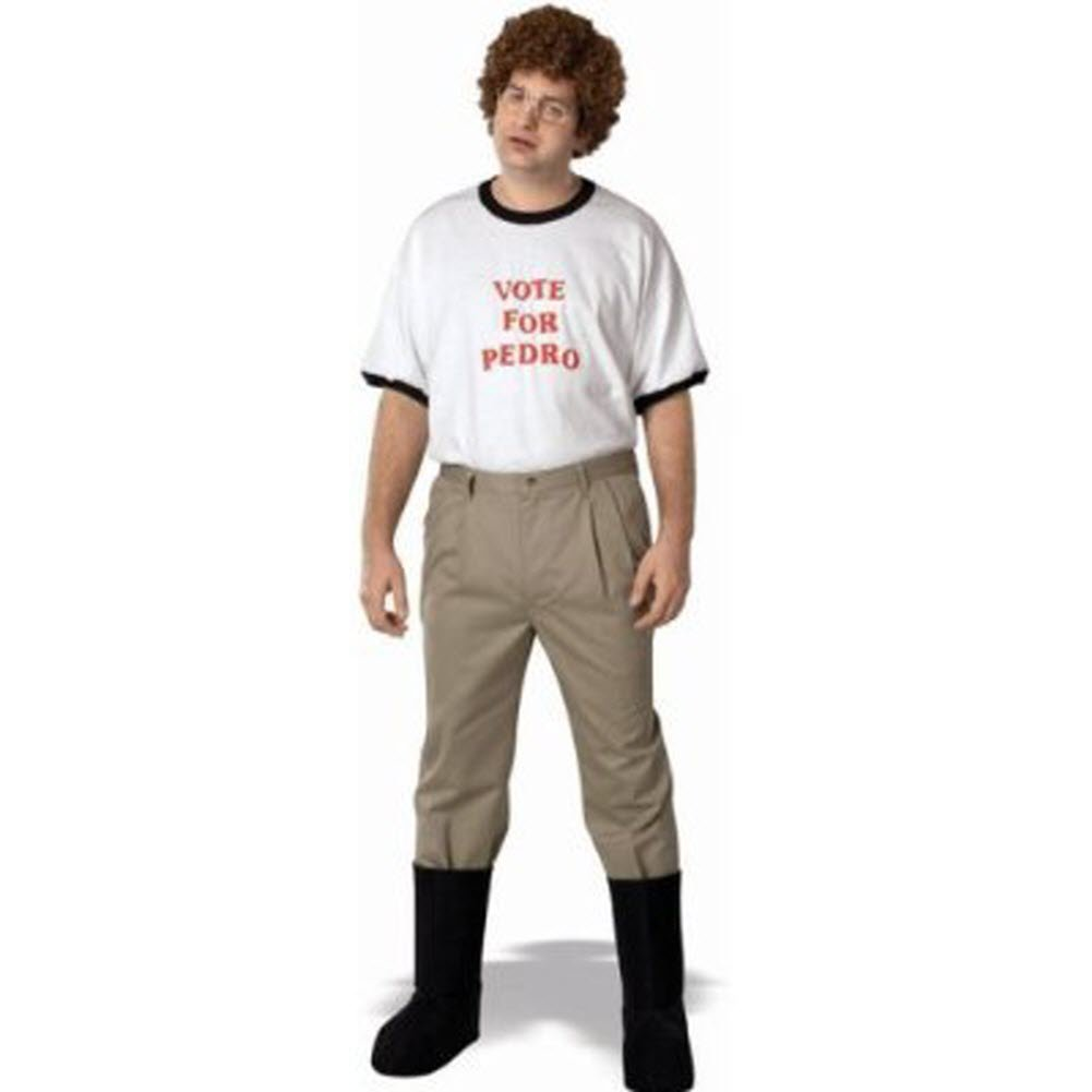 Napoleon Dynamite Complete Costume Kit: Adult Vote For Pedro T-Shirt, Accessory Kit and Moon Boots (Large)