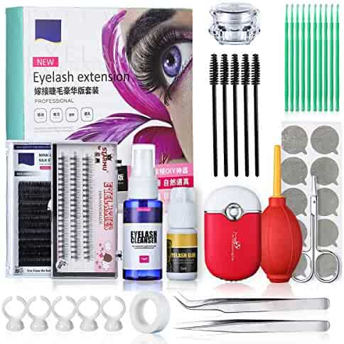 395a1e2235d Eyelash Extension Kits, Luckyfine Training MakeUp False Eyelashes Extension  Glue Tool Practice Kit for Makeup