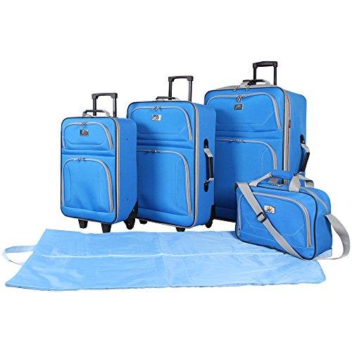 Verdi 5-Piece Lightweight Luggage Set (Blue)