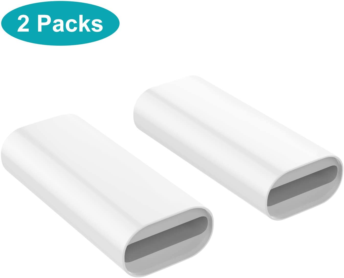MoKo Charging Adapter Compatible with Apple Pencil 1st, Connector Charger Cable Compatible with iPad Air 3 / iPad Mini 5 2019 / iPad Pro 12.9 10.5 9.7 Pen Accessories, (2 Pack, White)