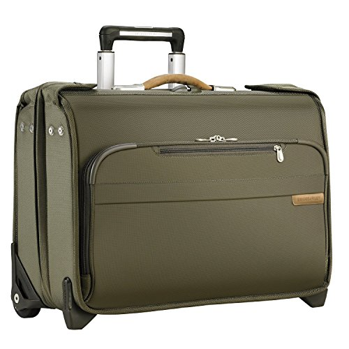 Briggs & Riley Luggage Carry-On Wheeled Garment Bag (14x21x8.5, Olive Green) by Briggs & Riley