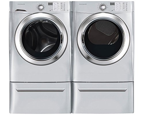 Frigidaire Silver Front Load Laundry Pair with FFFS5115PA 27' Washer, FFSE5115PA 27