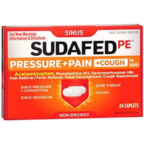 sudafed pe pressure + pain - 8