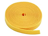 "0.75"" One Wrap Hook & Loop Fastening Tape 5 yd/Roll Yellow, CNE588865"