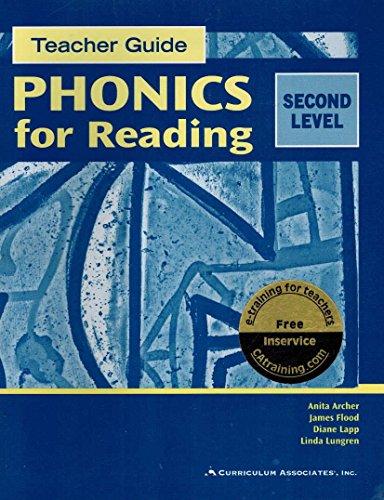 Phonics for Reading, Second Level, Teacher Guide