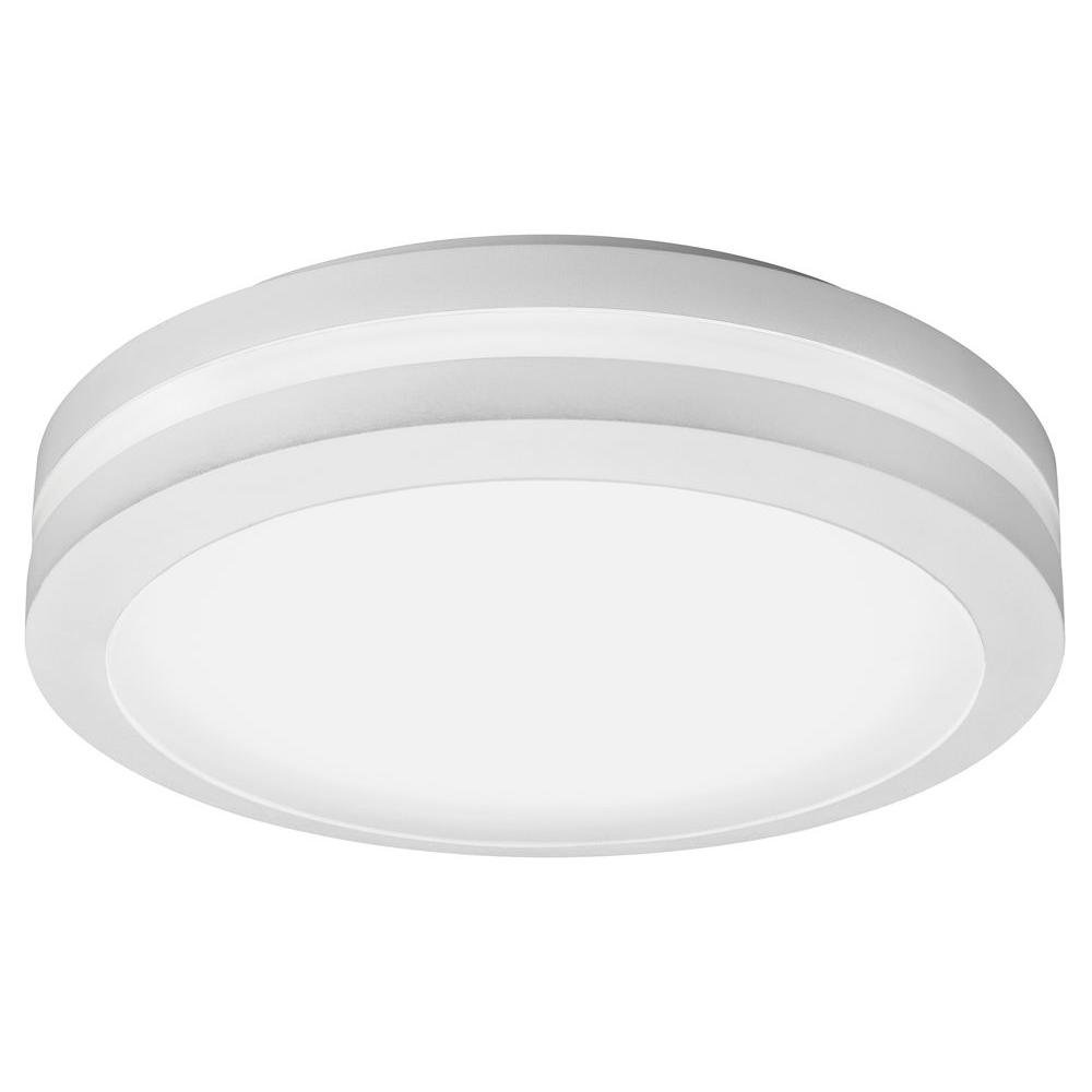 Lithonia Lighting OLCFM 15 WH M4 Outdoor Ceiling Mount Porch Light, White