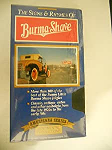 The Signs & Rhymes of Burma Shave [VHS]