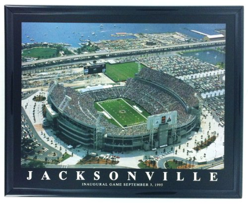 Opening Day Poster (Jacksonville Jaguars Stadium Opening Day Framed Aerial Photo F7553A)