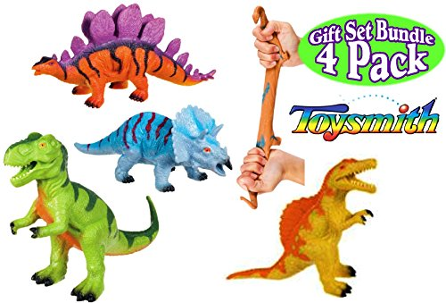 Toysmith Dinosaur Squishimals Orange Complete