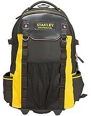 Stanley FatMax 1-79-215 Gereedschapsrugzak, waterdichte kunststofbodem, ademende bekleding, stabiele telescopische handgreep, robuust 600 denier nylon, 36 x 23 x 54 cm, zwart