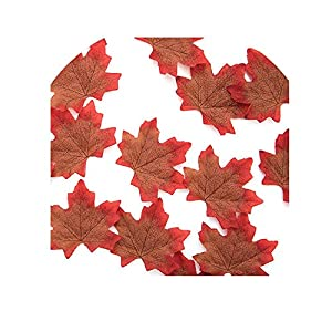 50pcs 8cm Artificial Silk Maple Leaves for Home Wedding Party Decoration Accessories Scrapbooking Fake Flower,A 83