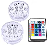 Underwater Submersible LED Lights Waterproof Remote Control Battery Operated Color Changing Floating Hot Tub Swimming Pool Pond Fountain Shower Bath Wedding Aquarium Accessories Starfish