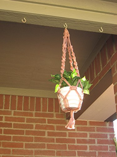 """Handmade Dusty Rose 26"""" Macrame Plant Hanger Perfect Gift Idea for Birthdays Mothers Day and all occasions"""