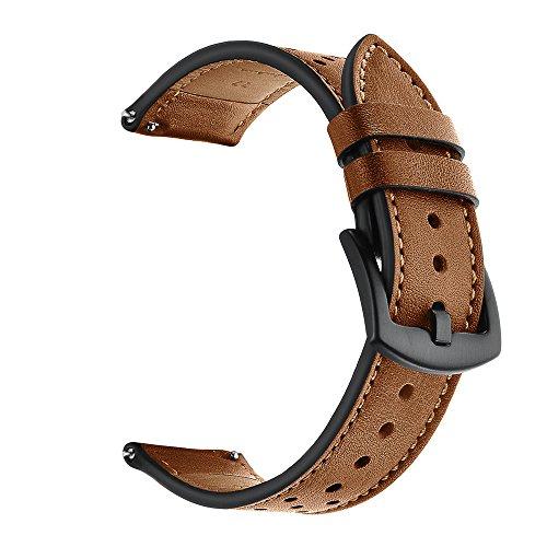 (for Amazfit Stratos Smart Watch 2/2S Band,salaheiyodd Comfortable Premium Leather Adjustable Watch Band Wrist Straps Bracelet for Amazfit Stratos Smart Watch 2/2S Women Men (Brown))