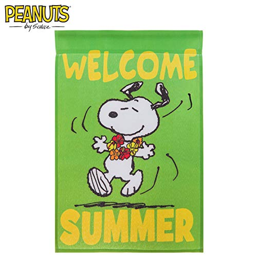 (Peanuts Snoopy Welcome Summer Garden Flag 12''x)