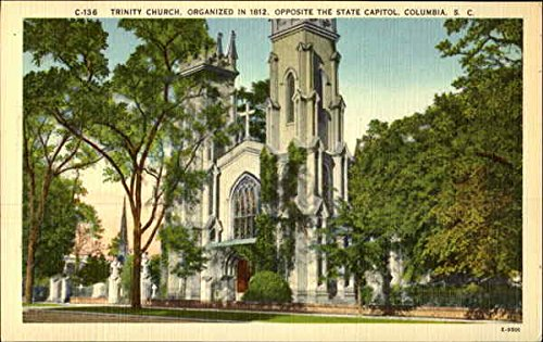 Trinity Church  Organized In 1812  Opposite The State Capital Original Vintage Postcard