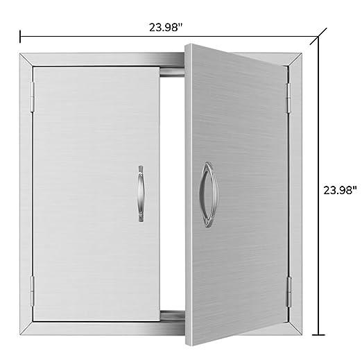 Amazon.com: MorNor - Puerta de acceso para barbacoa, acero ...