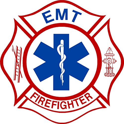 EMT Firefighter Maltese Window Decal Vinyl Sticker 4