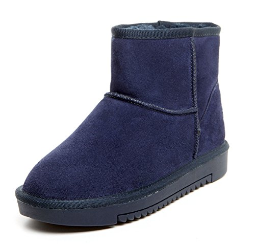uBeauty - Womens Snow Boots - Womens Warm Boots - Ankle Boots - Winter Boots Blue 4frmu5xP