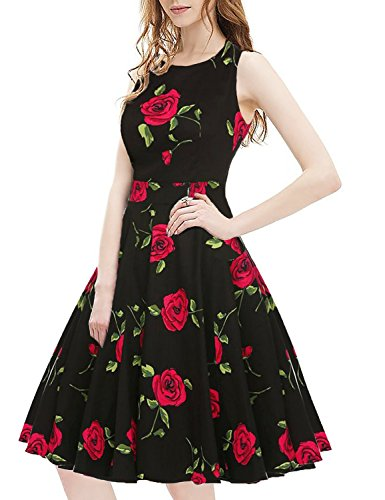 OWIN Womens Vintage Floral Cocktail