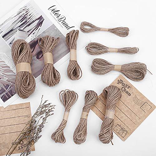 bricolage cadeaux regroupement Qian Ya Ficelle de jute naturelle 25 m de ficelle de jute 2 mm d/épaisseur pour fleuristes d/écoration Marron jardin et recyclage