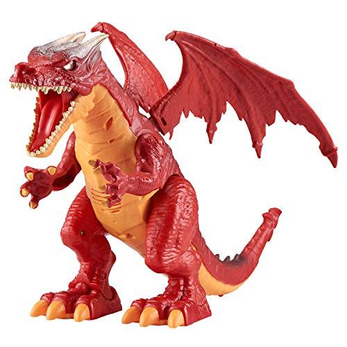 ROBO ALIVE Juguete robótico con batería Ferocious Roaring Dragon de Zuru (Rojo)