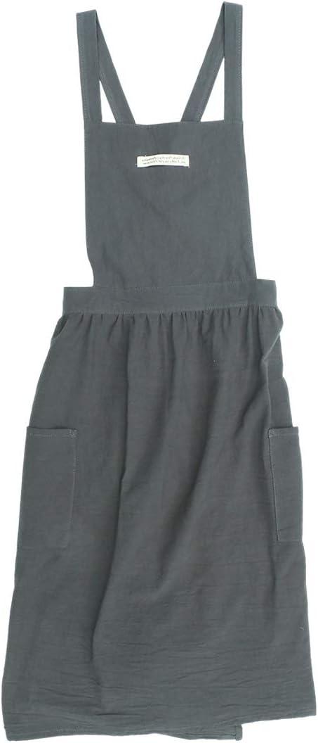 Hemoton Delantal de algodón de Estilo Coreano Falda Plisada Moda ...
