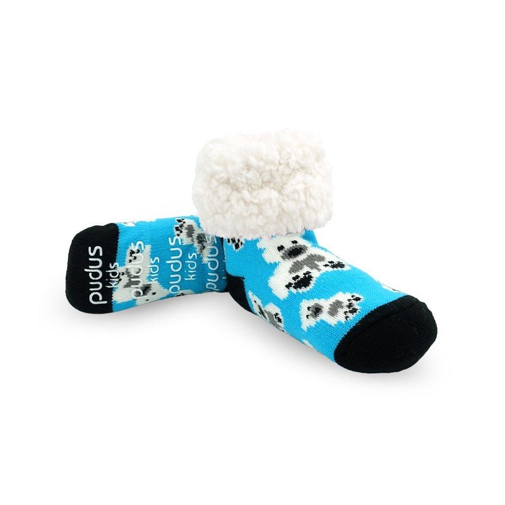 Pudus Unisex Classic Slipper Socks Kids One Size Blue