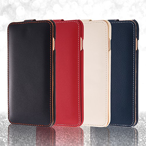 Flap Type Leather Style Jacket for iPhone 6 Plus (Black)