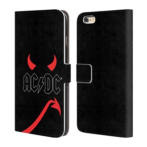 Officiel AC/DC ACDC Klaxons Et Queue Iconique Étui Coque De Livre En Cuir Pour Apple iPhone 6 Plus / 6s Plus