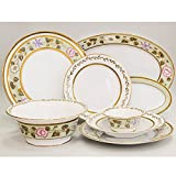 Jade Background 24-Piece Dinner Set for 6 Persons. 22k Gold